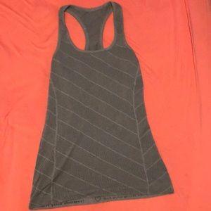 Size 6 grey Lululemon racerback top